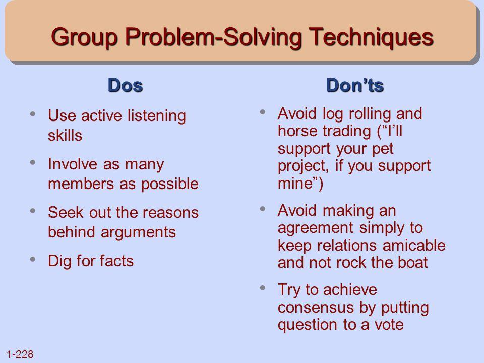 Group Problem-Solving Techniques