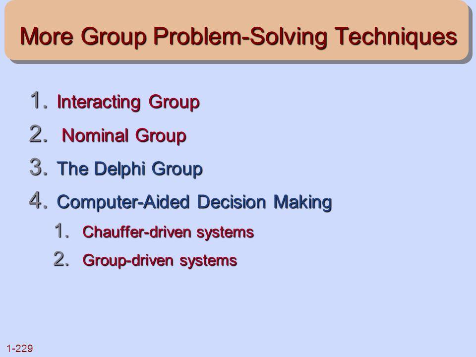 More Group Problem-Solving Techniques