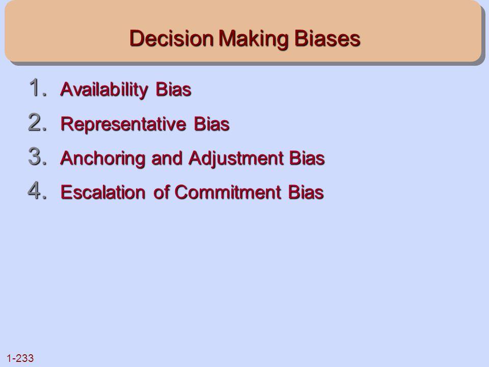 Decision Making Biases