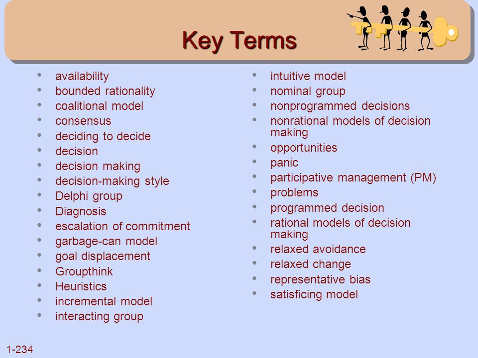 Key Terms availability bounded rationality coalitional model consensus