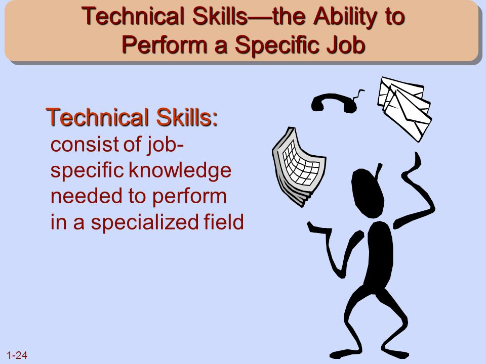 Technical Skills—the Ability to Perform a Specific Job
