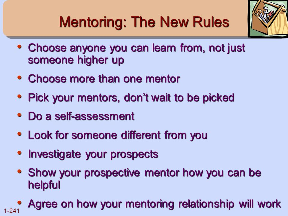 Mentoring: The New Rules