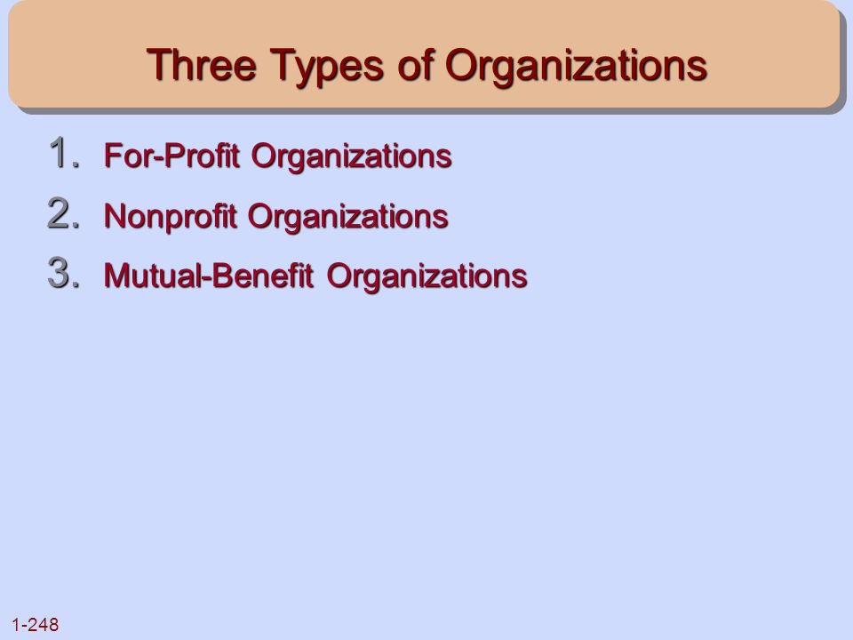 Three Types of Organizations