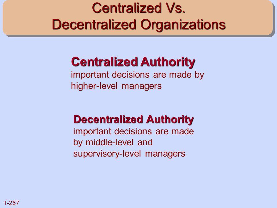 Centralized Vs. Decentralized Organizations