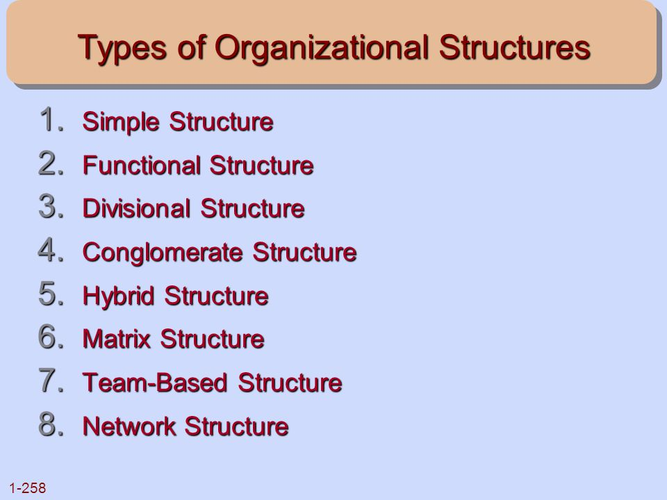 Types of Organizational Structures