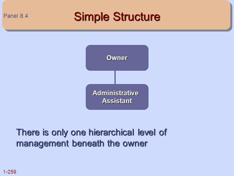 Simple Structure Panel 8.4. Owner. Administrative.