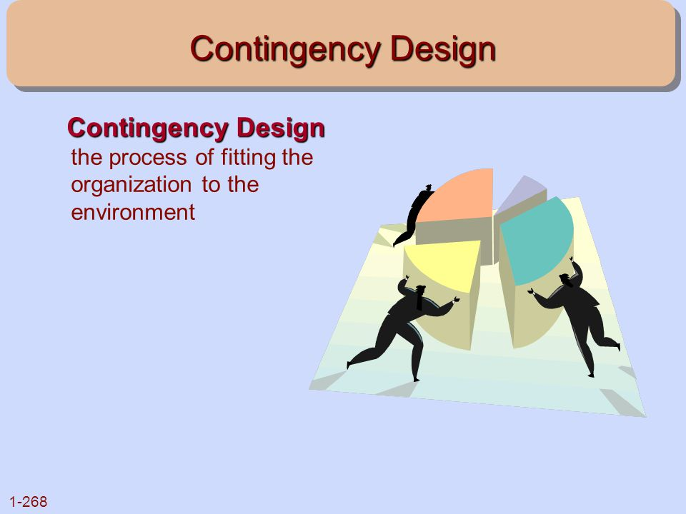 Contingency Design Contingency Design the process of fitting the organization to the environment
