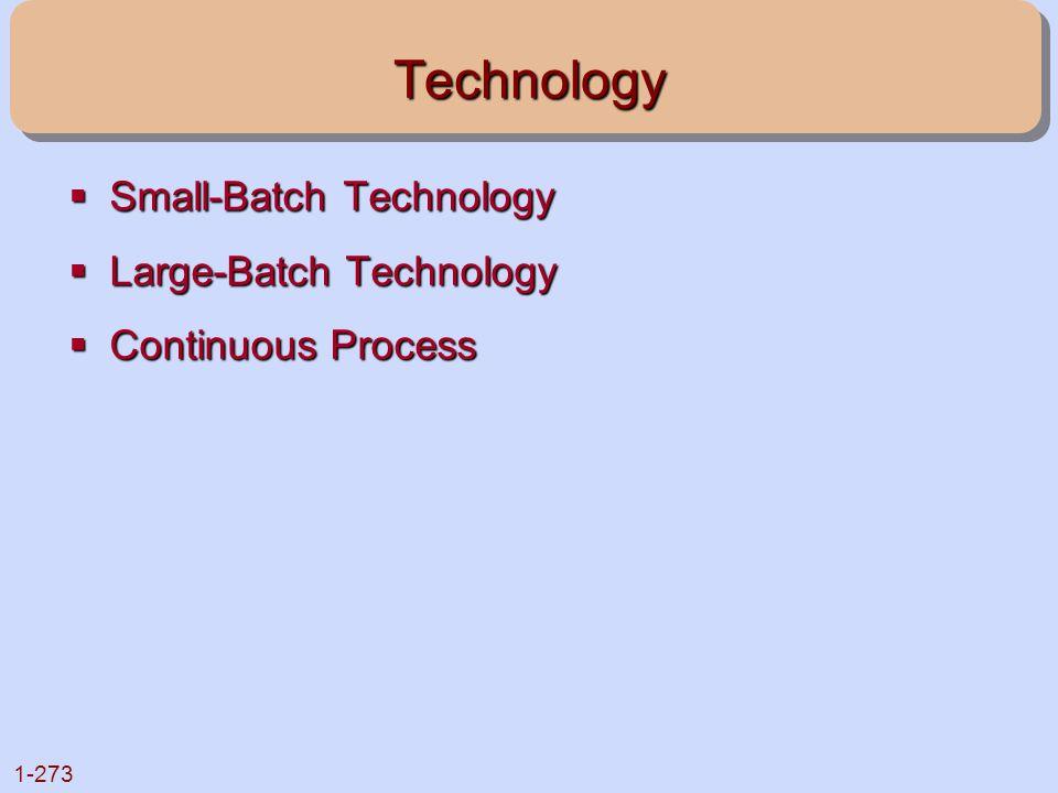Technology Small-Batch Technology Large-Batch Technology