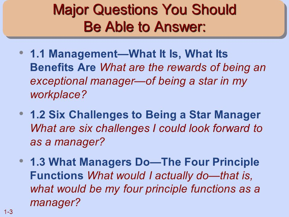 the rewards and challenges of being a manager