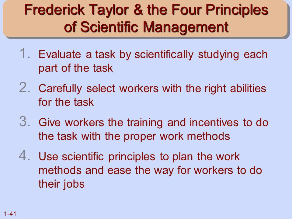 the ideas of frederick w taylor Although taylor is most remembered for his management and organizational ideas nelson, daniel frederick w taylor and the rise of scientific management daniel, ed a mental revolution: scientific management since taylor columbus: ohio state university press, 1992 sidorick.