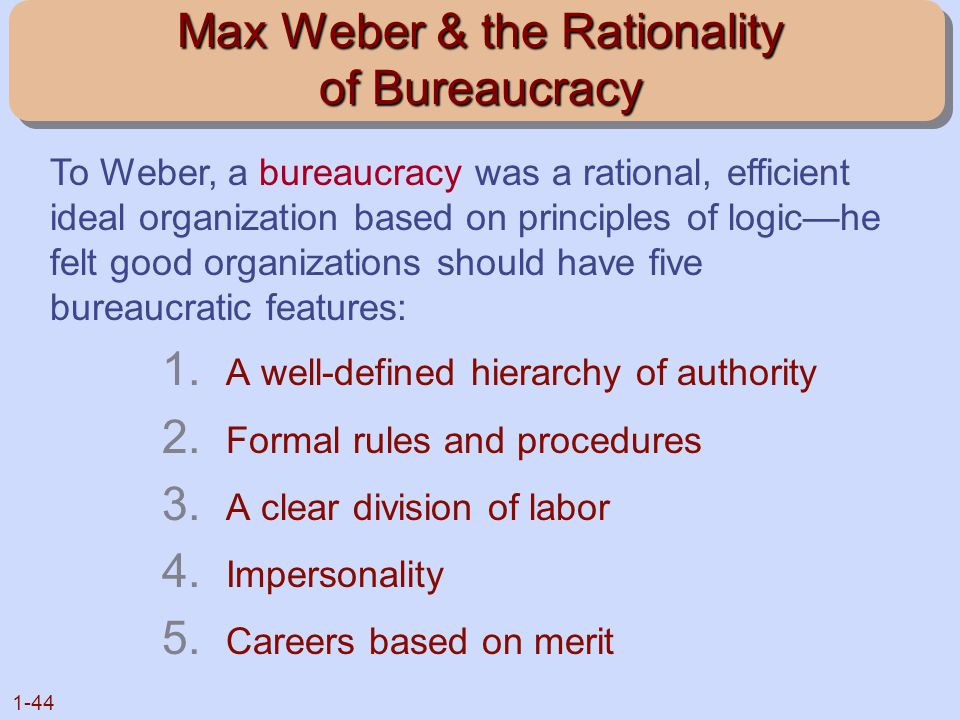 Max Weber & the Rationality of Bureaucracy