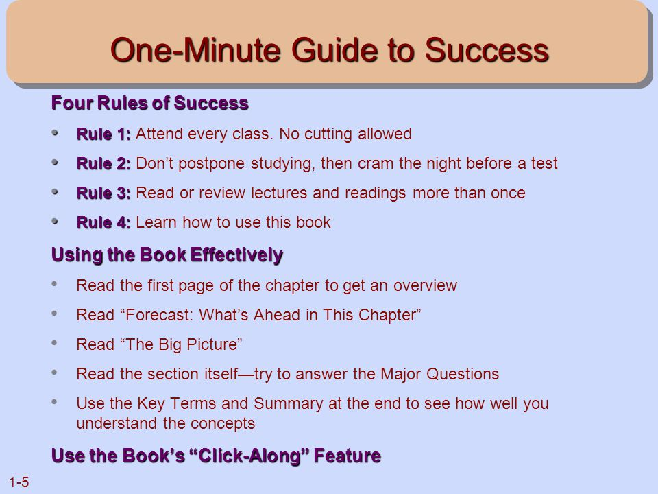 One-Minute Guide to Success