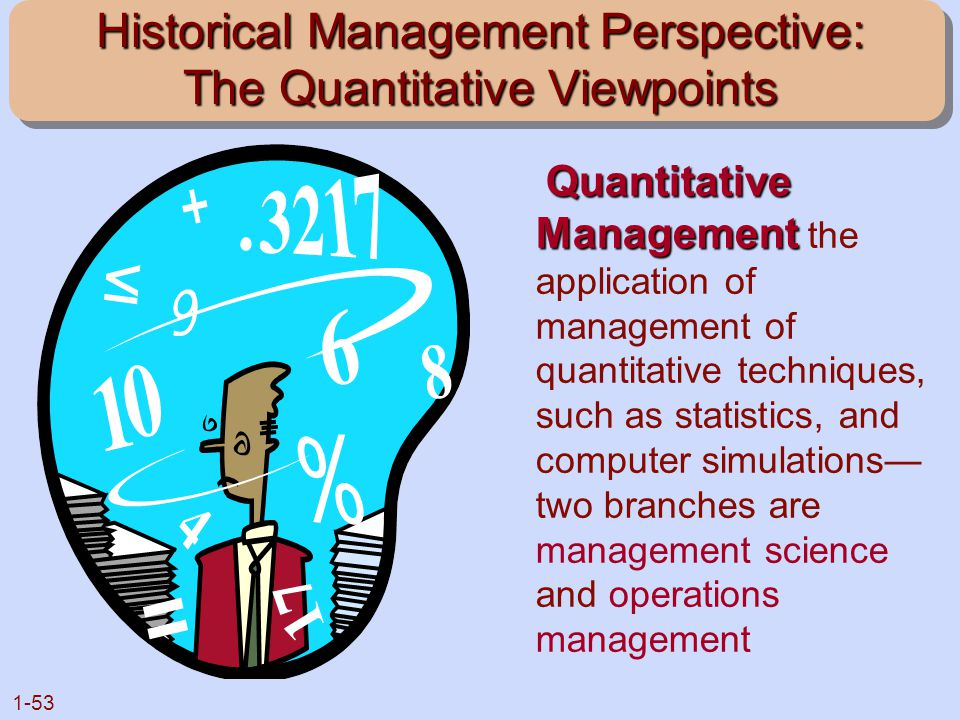 Historical Management Perspective: The Quantitative Viewpoints