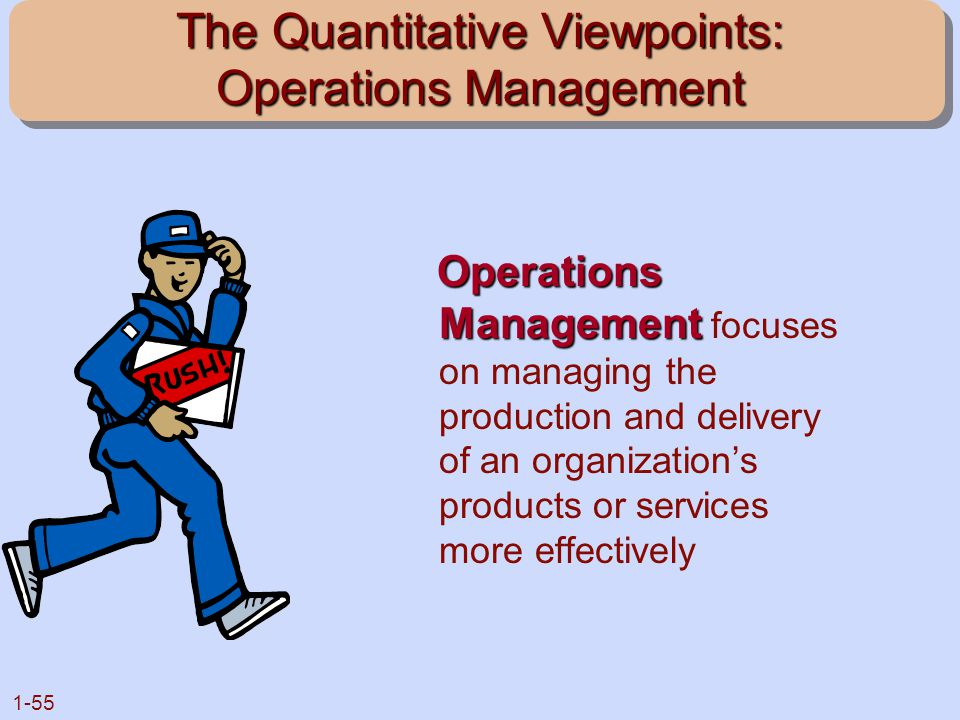 The Quantitative Viewpoints: Operations Management