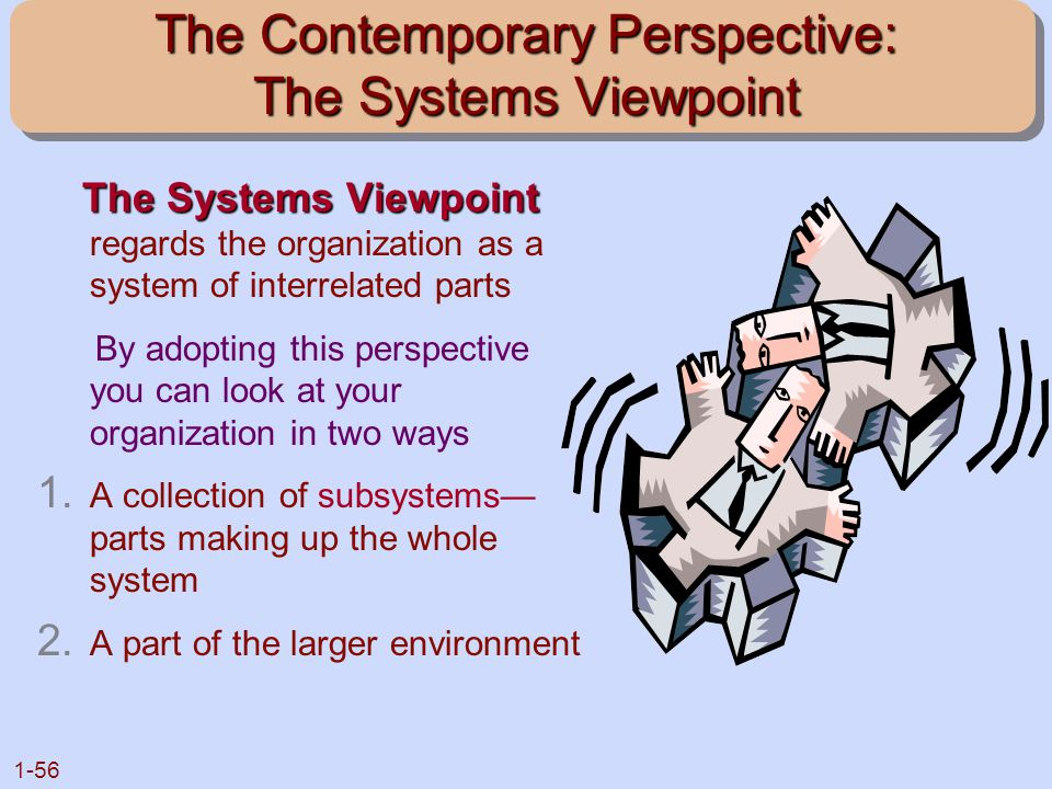 The Contemporary Perspective: The Systems Viewpoint