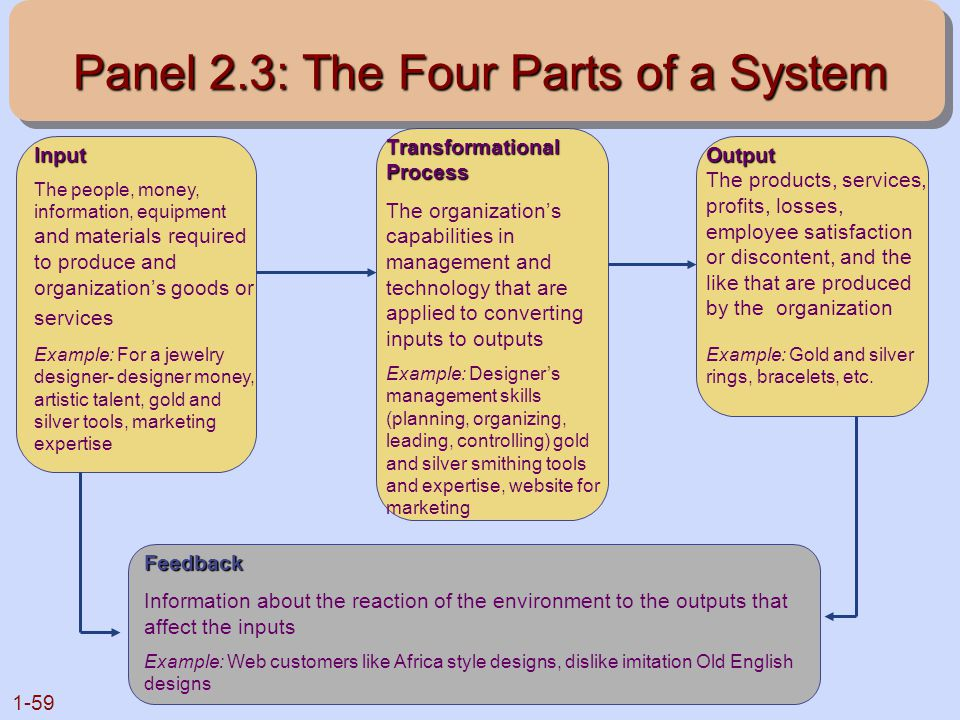 Panel 2.3: The Four Parts of a System