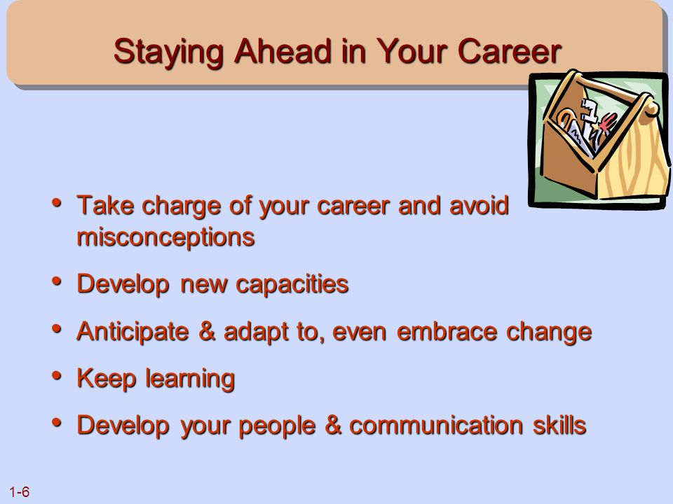 Staying Ahead in Your Career