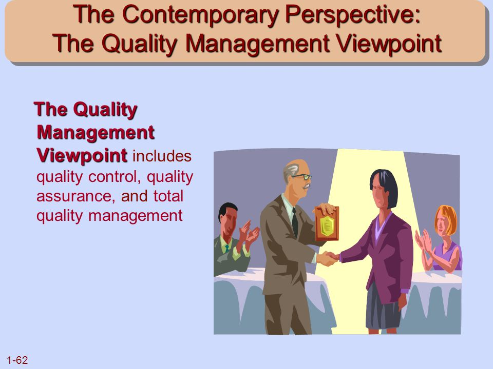 The Contemporary Perspective: The Quality Management Viewpoint