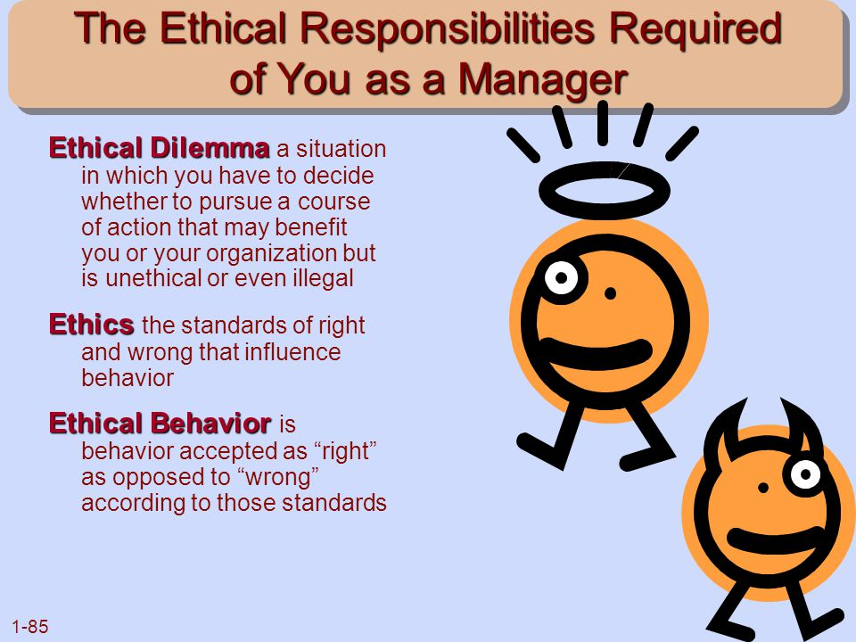 The Ethical Responsibilities Required of You as a Manager