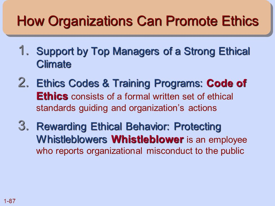 How Organizations Can Promote Ethics