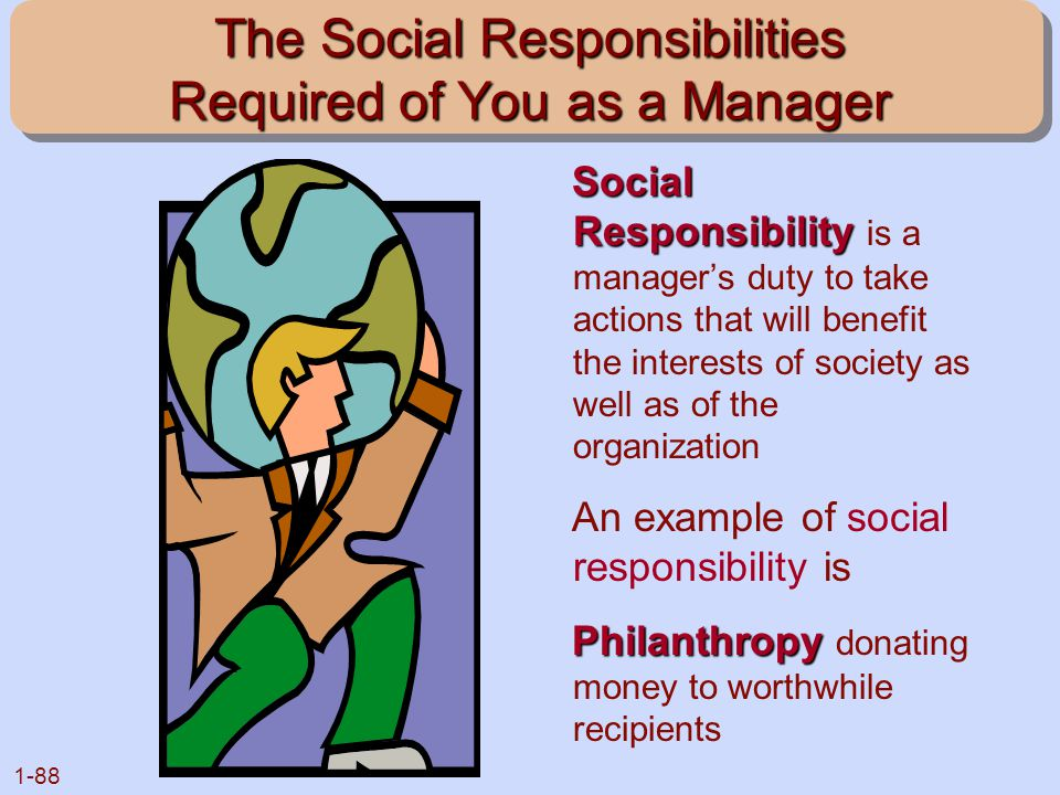 The Social Responsibilities Required of You as a Manager