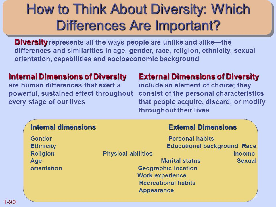 How to Think About Diversity: Which Differences Are Important