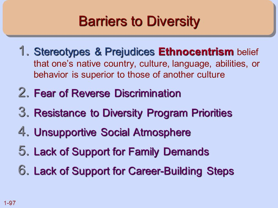 Barriers to Diversity