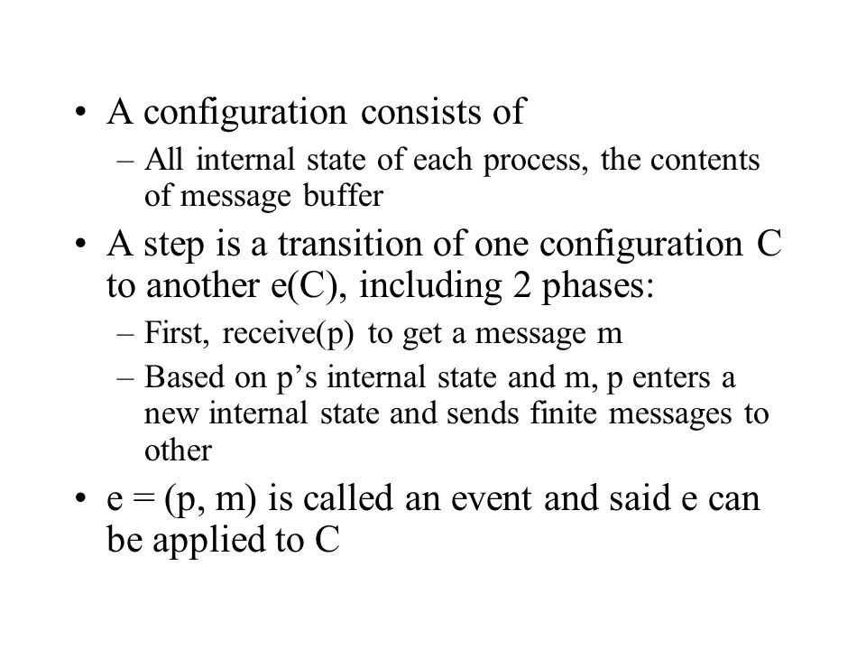 A configuration consists of