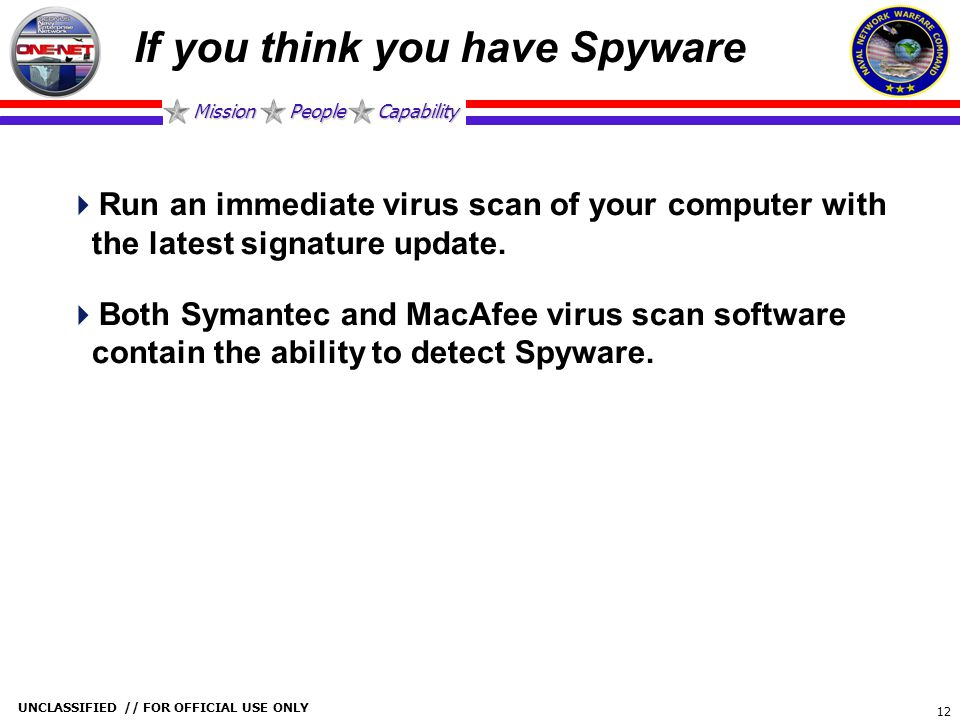 If you think you have Spyware