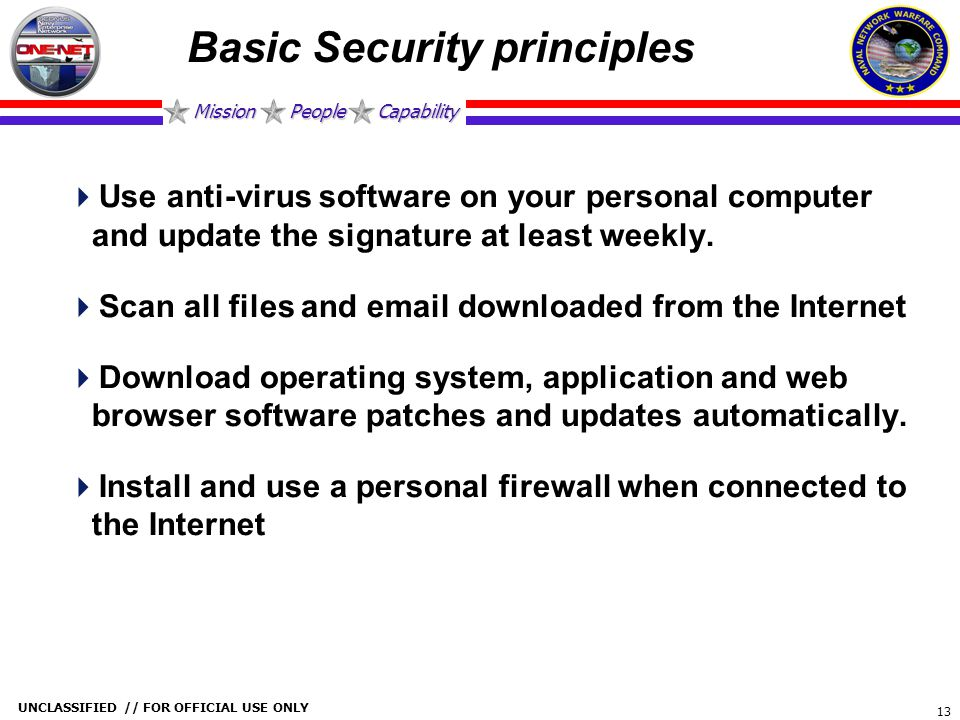 Basic Security principles