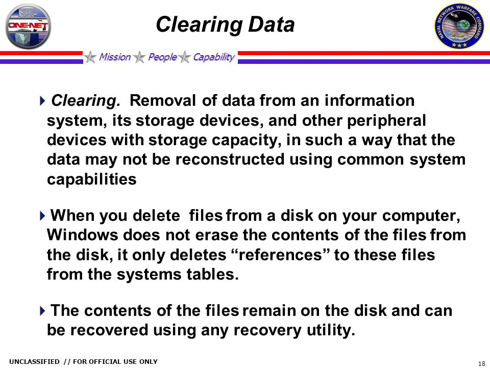 Clearing Data