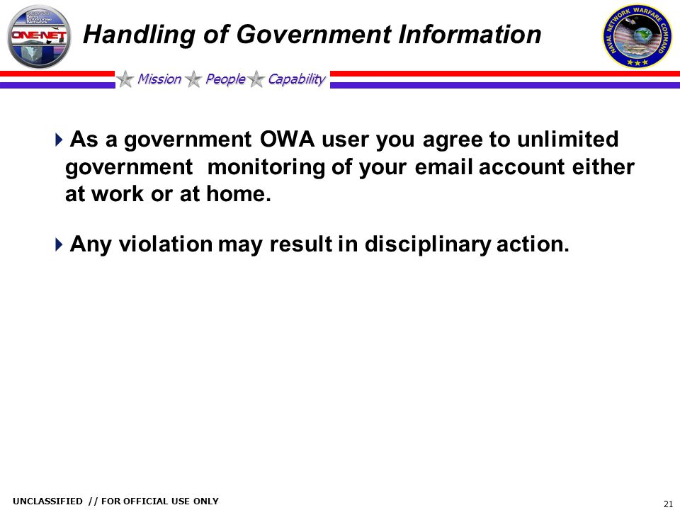 Handling of Government Information