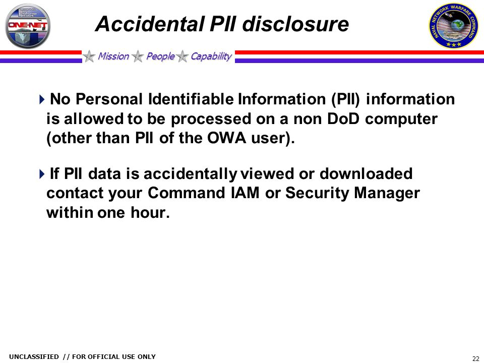 Accidental PII disclosure