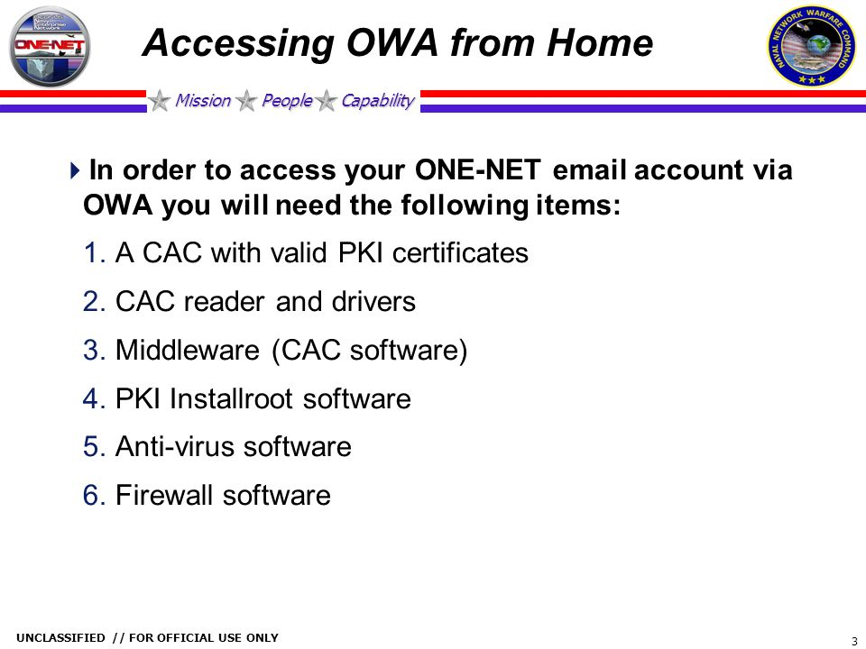 Accessing OWA from Home