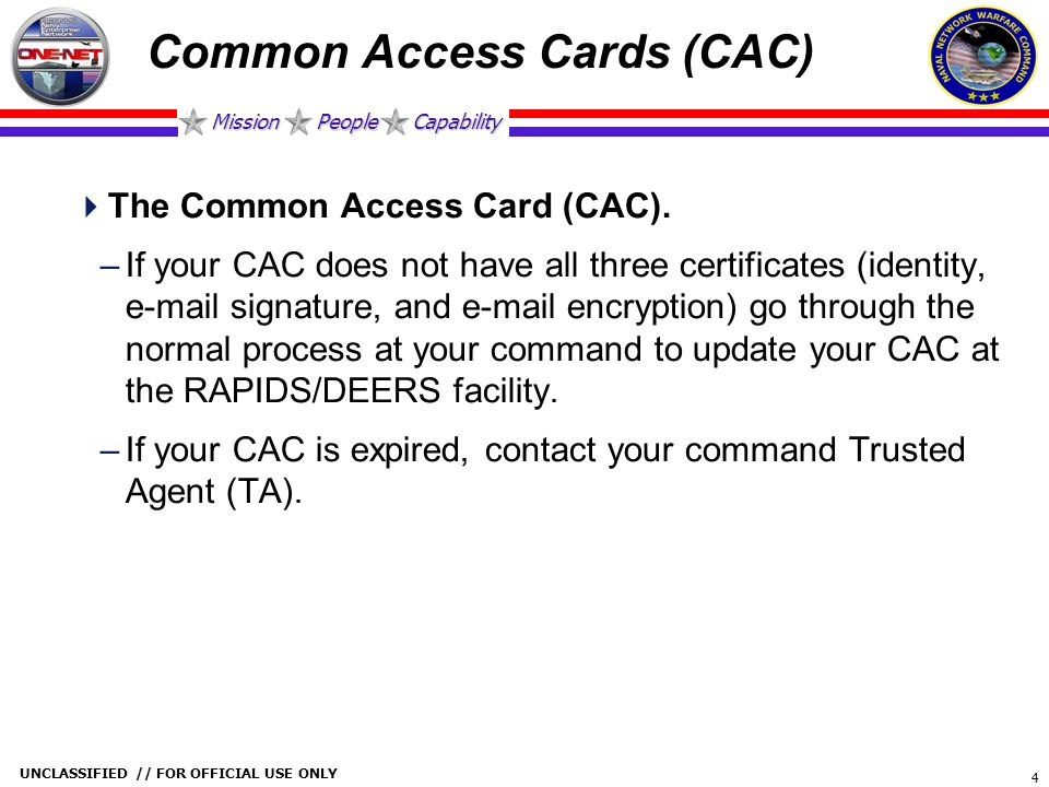 Common Access Cards (CAC)