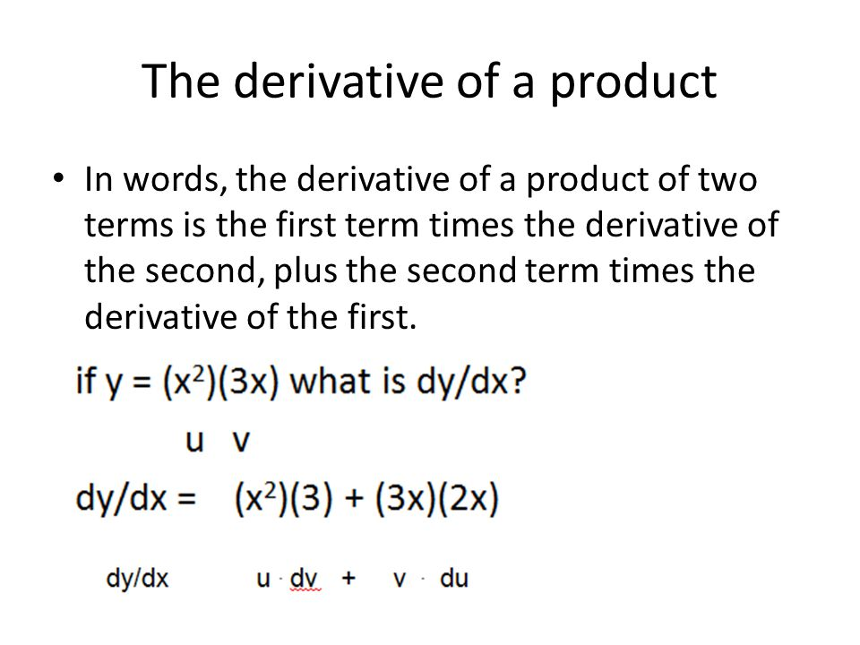 The derivative of a product