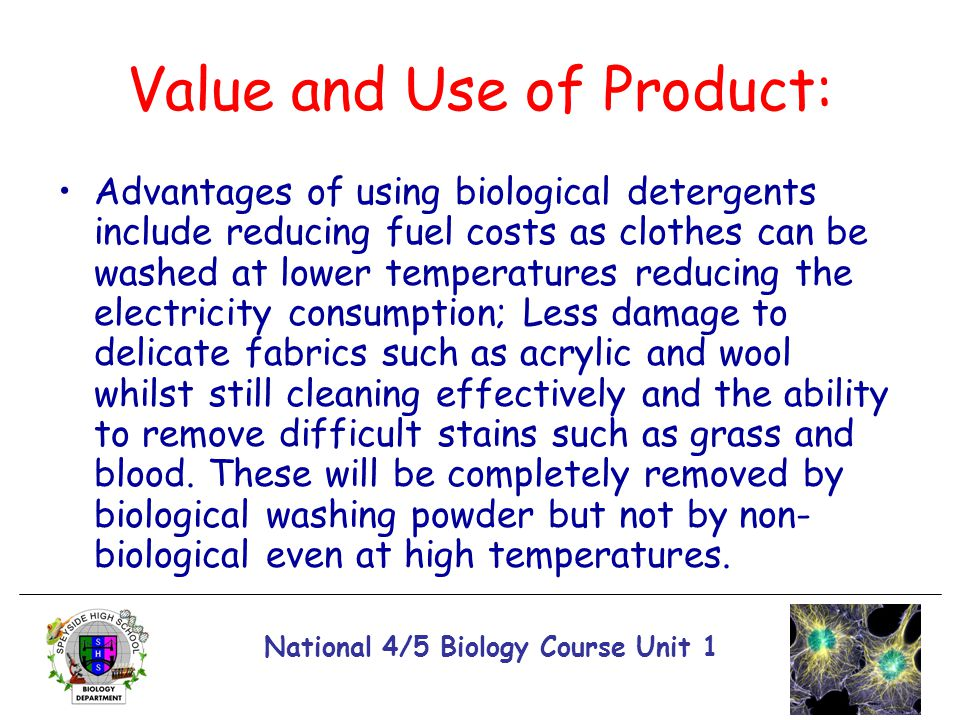 Value and Use of Product: