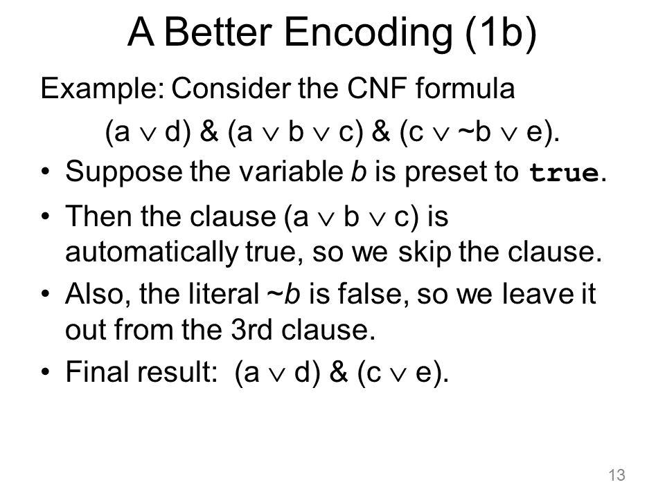 (a  d) & (a  b  c) & (c  ~b  e).