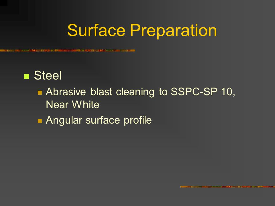 Surface Preparation Steel