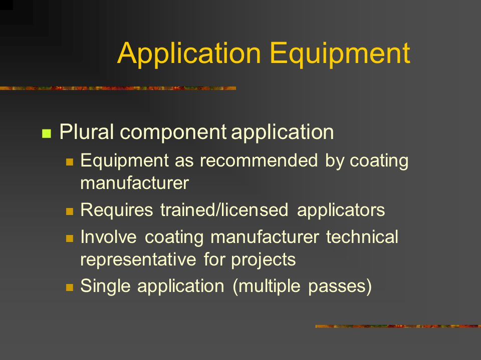 Application Equipment