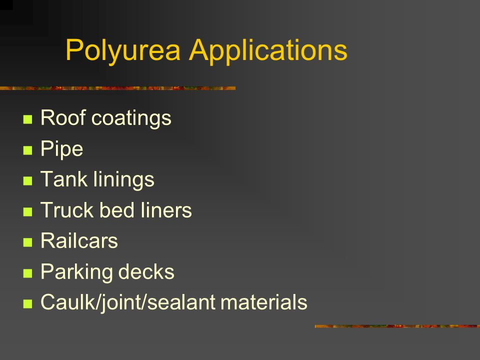 Polyurea Applications