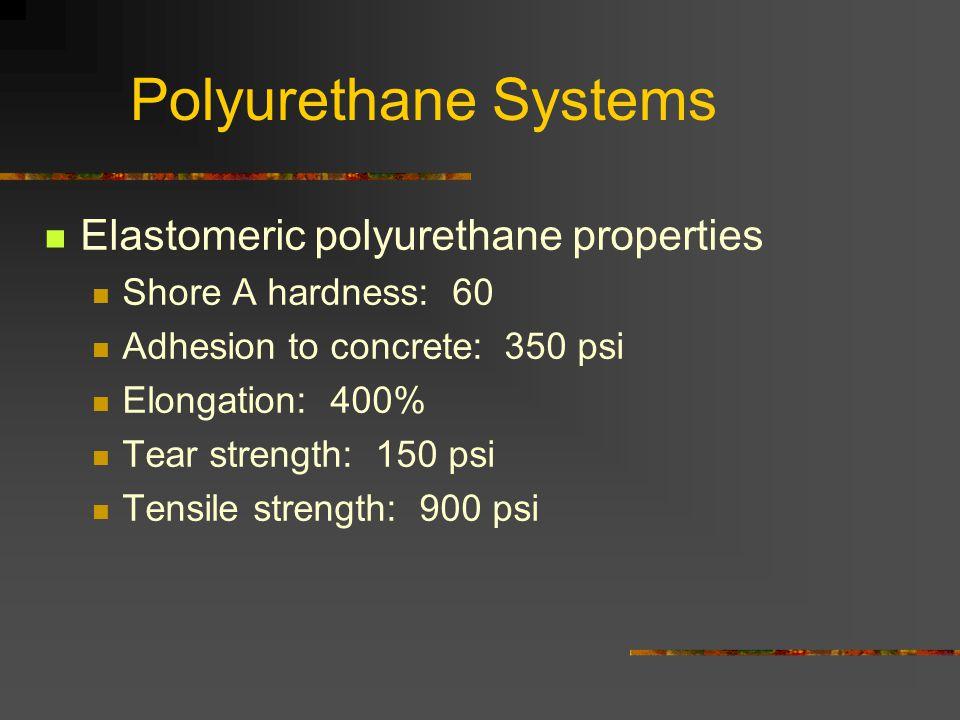Polyurethane Systems Elastomeric polyurethane properties
