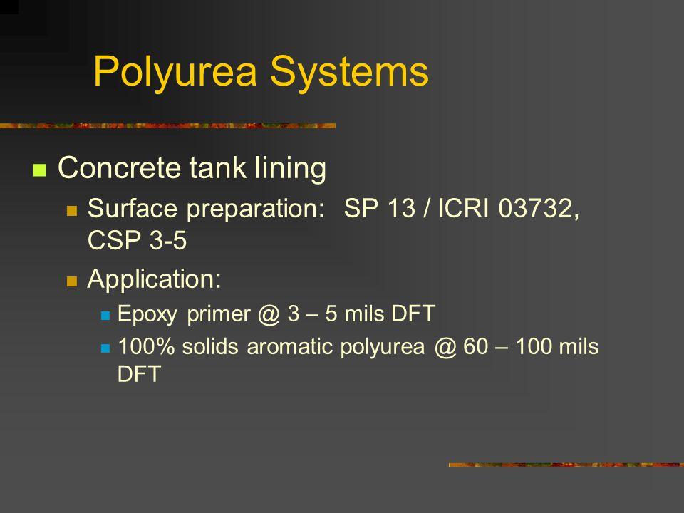 Polyurea Systems Concrete tank lining
