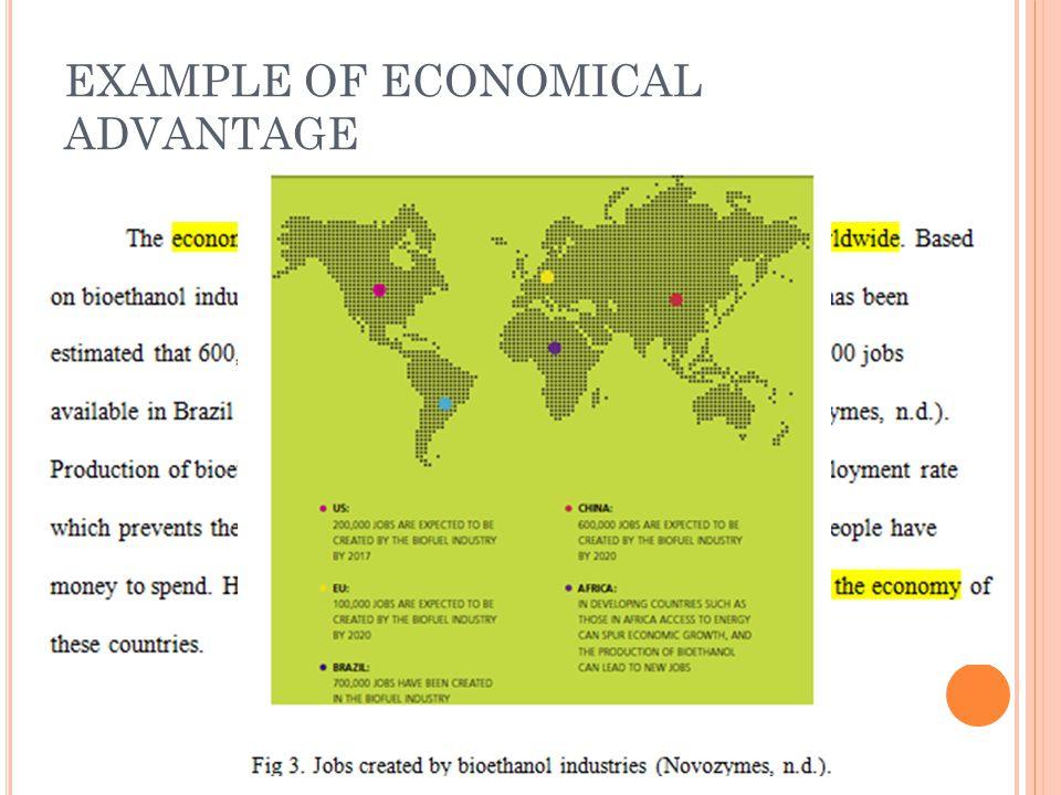 EXAMPLE OF ECONOMICAL ADVANTAGE