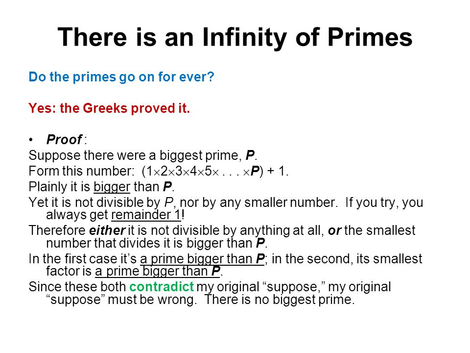 There is an Infinity of Primes