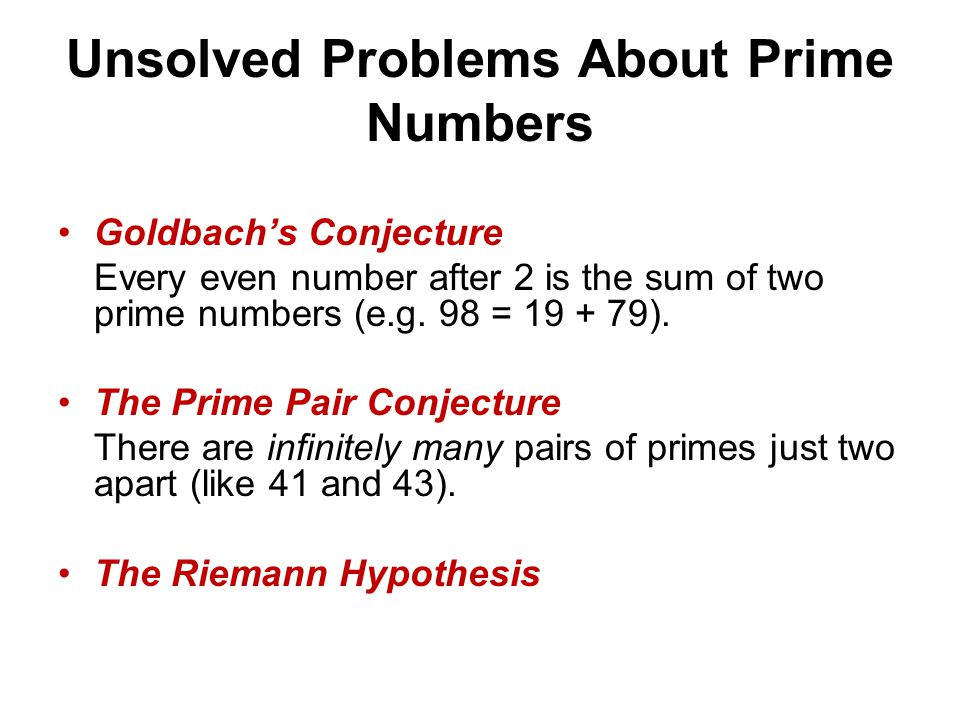 Unsolved Problems About Prime Numbers