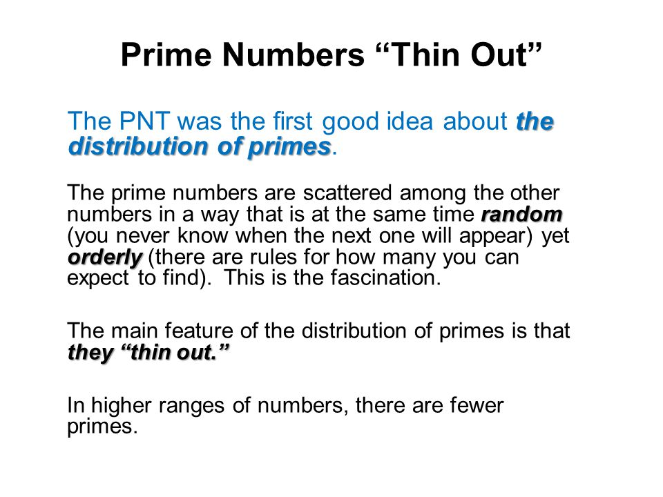 Prime Numbers Thin Out