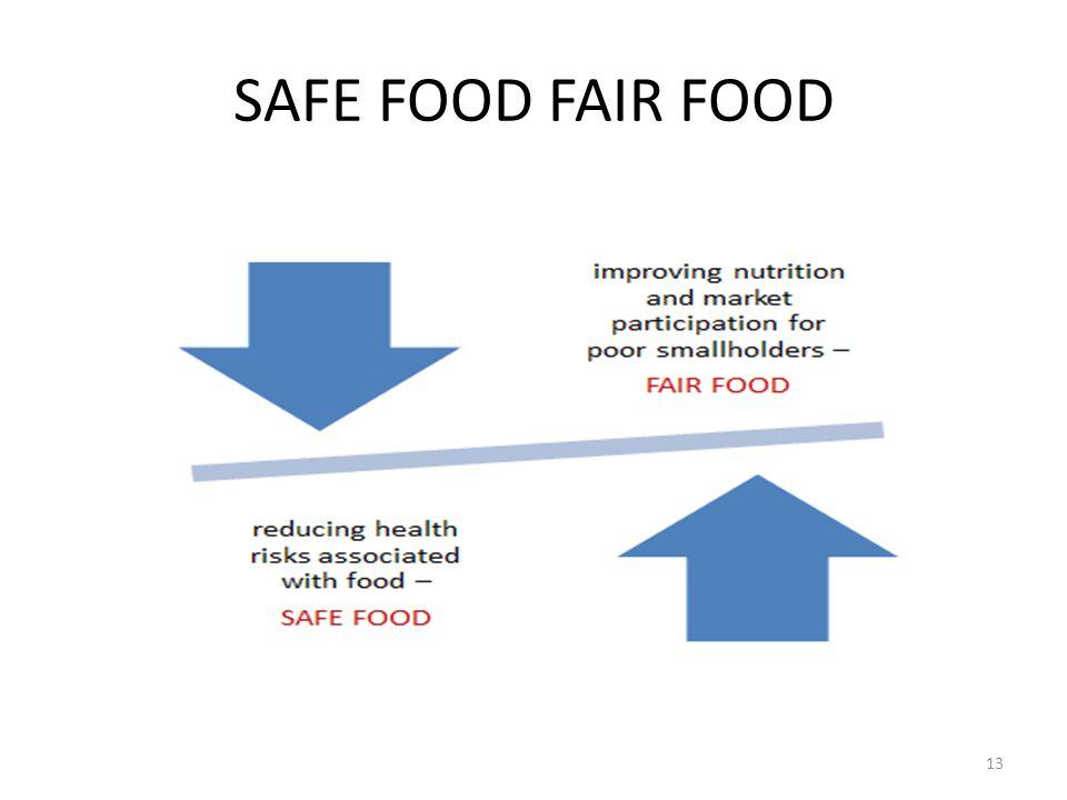 SAFE FOOD FAIR FOOD