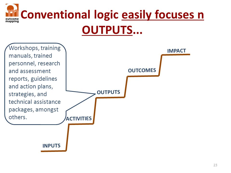 Conventional logic easily focuses n OUTPUTS...