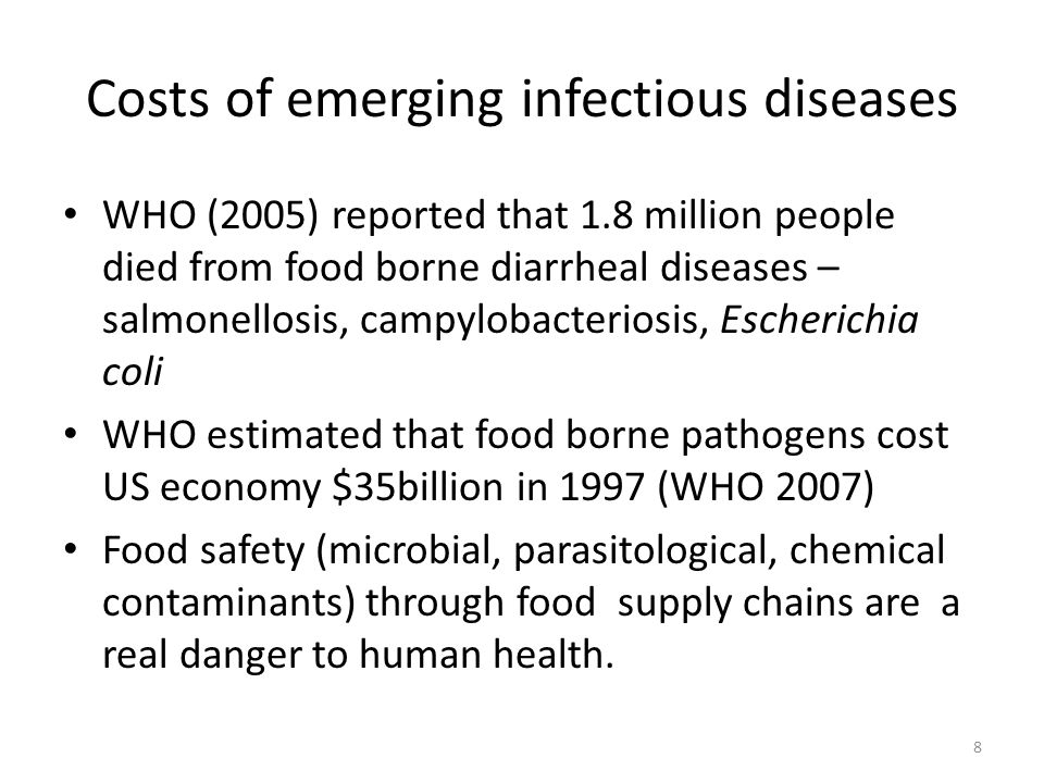 Costs of emerging infectious diseases